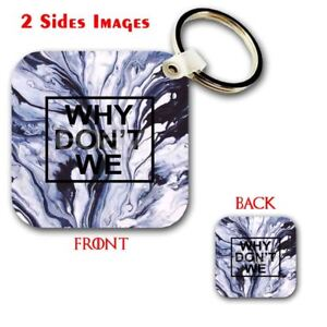 Details about Why Don't We Custom Keychain Key Ring Jewelry Necklaces  Pendant 2 Side