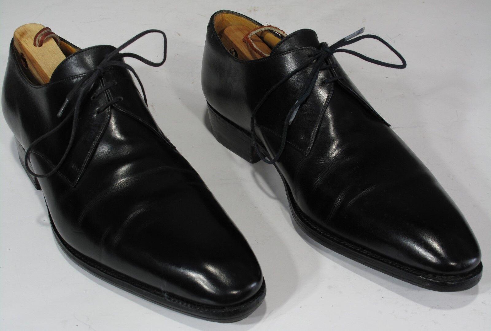 1100 J M WESTON chaussures noires 7E UK, 8US. Plain Toe Derby Derbies