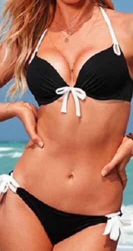 Donna Imbottito Reggiseno Floreale Costume Da Bagno Spiaggia Costumi da bagno Benda da bagno Bikini Push-Up