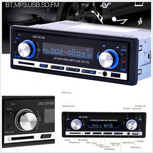 12V-In-Dash-Bluetooth-V2-0-MP3-Music-Player-AUX-FM-Car-Radio-Stereo-Handfree-Kit