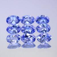 6x4mm Lot 1,2,6,10pcs Oval Cut Calibrated Natural Gem Violet Blue Tanzanite