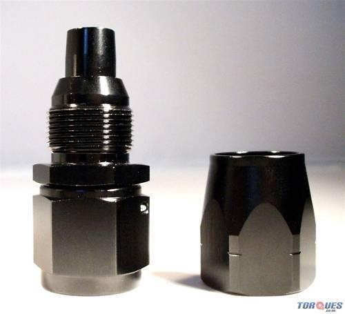 10AN JIC AN10 10 Droit Pivot Joint Noir Raccord An
