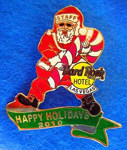 Las-Vegas-Hotel-Baston-Navidad-Santa-Baston-de-Caramelo-10-Hard-Rock-Cafe-Pin-Le