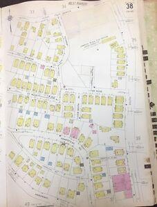 1928 BOSTON WEST ROXBURY JAMAICA PLAIN MA FORDHAM COURT MAP