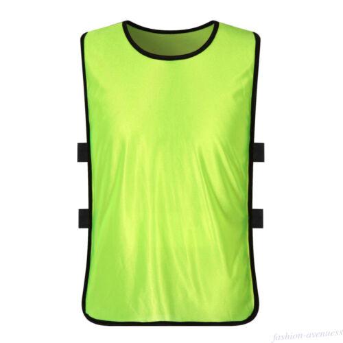 Team Training Scrimmage Soccer Football Pinnies Jerseys Sport Vest Adult Child