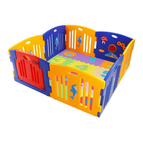 Optional Playmats Mamakids Large Foldable Plastic Baby Playpen Indoor /& Outdoor