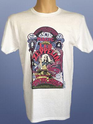 Official Led Zeppelin UK Tour 1971 Rock Band T-Shirt