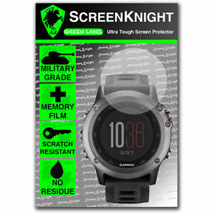 Screenknight Garmin Fenix 3 Screen Protector Invisible Military
