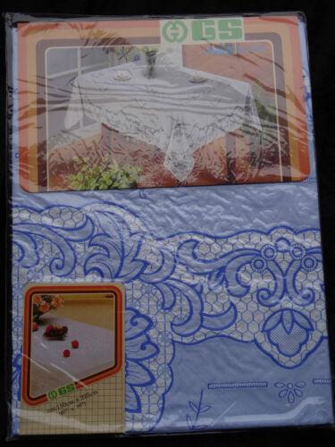 150x225 cm nappe vinyle coloré couverture de protection Motif Floral Bleu nappes NEUF