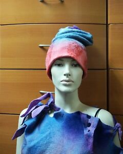 3078d62e539 FELTED WOOL HAT ARTSY HANDMADE IN EUROPE WINTER HAT UNIQUE GIFT FOR ...