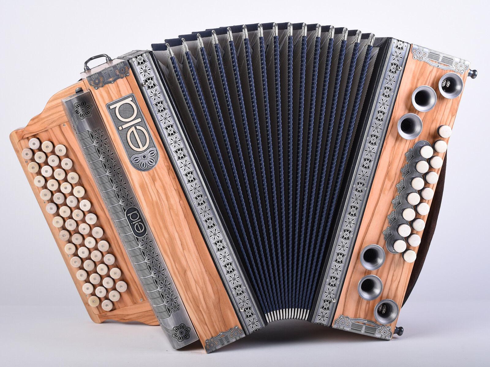 Mieten - Steirische Harmonika  EID   -  Donautal -  Edelolive G-C-F-B 36iger