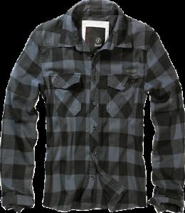 7xl Brandit CHECK SHIRT Schwaz Grigio Casual Camicia a Quadri Flanella Camicia S