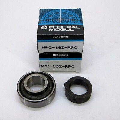 NPC102RP NPC-102-RPC Lot of 2 BCA Federal Mogul NPC102RPC Bearings