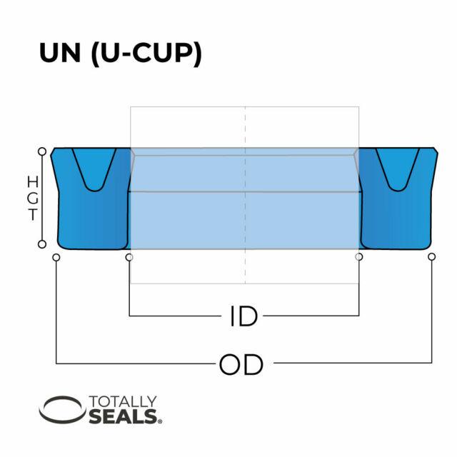 Hydraulic U Cup Seals Metric Rod Piston 22mm ID x 35mm OD x 10mm