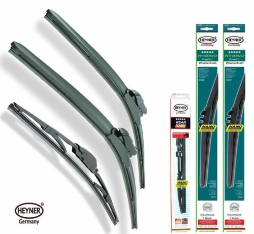 NISSAN MICRA 2003-2005 set of 3 WINDSCREEN WIPER BLADES HYBRID