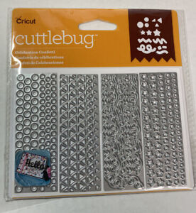 Cricut Cuttlebug All Girl Confetti Cut /& Emboss Die Set High Heels Crown Diamond