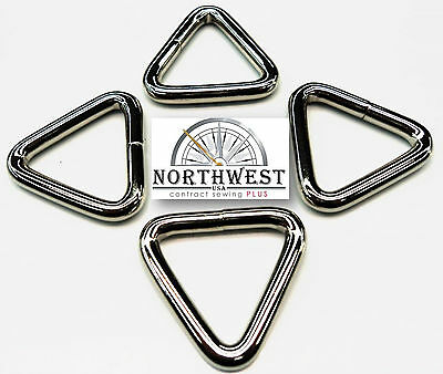 1 inch Heavy Welded Triangle Tri-Rings  Nickle 12 per lot