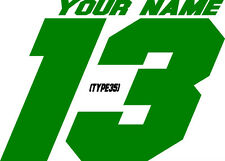 CUSTOM NAMED RACING MX NUMBER PLATE DECALS SUPERCROSS STICKERS SUPERBIKE ATV