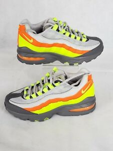 Details about AUTHENTIC NIKE Air Max 95 Vast Grey Volt Gunsmoke Orange 905348 019 GS size 4Y