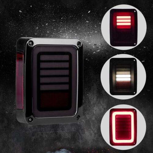 LED Tail Lights Smoke Rear Brake Turn Signal Reverse FOR JEEP Wrangler JK 07-17
