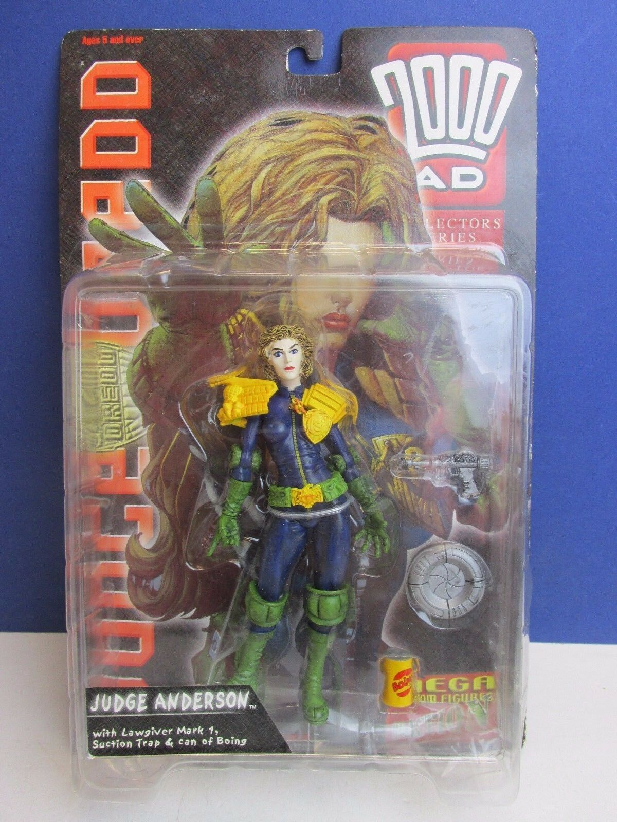 2000AD JUDGE DREDD ANDERSON ACTION FIGURE COLLECTOR SERIES re action 1999 T83