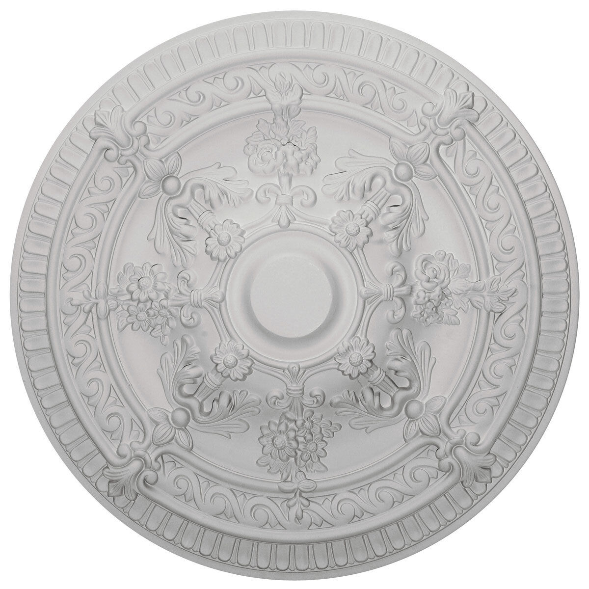 26 OD x 3 3 4 ID x 3 P Ceiling Medallion (Canopies up to 6 ), CM6008