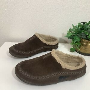 SOREL Brown Suede Leather Falcon Ridge Slippers Mules Mens Size 9