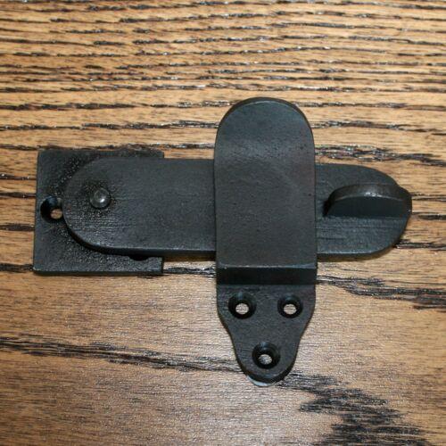 Cupboard latch 3 Inch Privacy latch door latch door catch black Cast iron