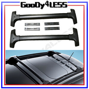 09 15 Chevy Traverse Oe Factory Style Black Carrier Roof Rack Cross Bars Ebay