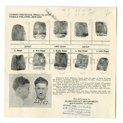 Amicable Wanted Notice Ulmont Stockdale/parole Violator 1935 Al Montgomery