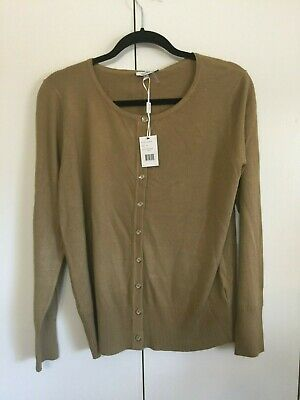 Womens Antique Gold Cardigan Sweater Size XL Vila Milano New with Tags NWT | eBay