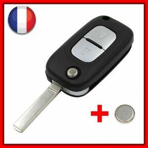 Coque Clé Télécommande Pour Renault Clio 3/Megane/ Kangoo/Modus /Twingo 2 +Pile