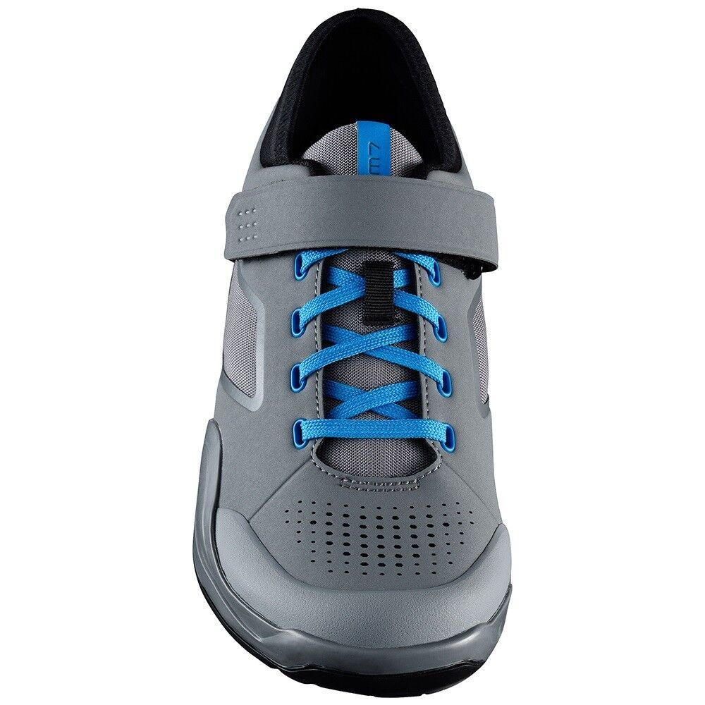 Nuovo Shimano AM7 Enduro Trail DownHill Off Road scarpe Bike scarpe Road grigio / blu - Size 47 6adf93