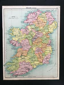Antique-Map-Of-Ireland-C1910
