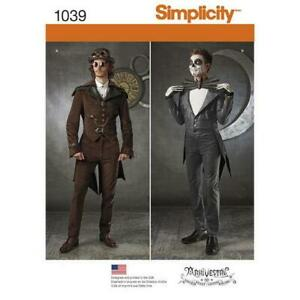 Simplicity-Sewing-Pattern-1039-Men-039-s-Cosplay-Costume-Steampunk-Vintage-AA-38-44