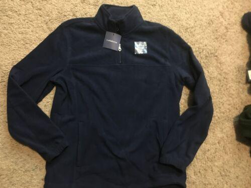 Mensl Artic Pullover Fleece Jacket Blue M MSRP $36 NWT Croft /& Barrow