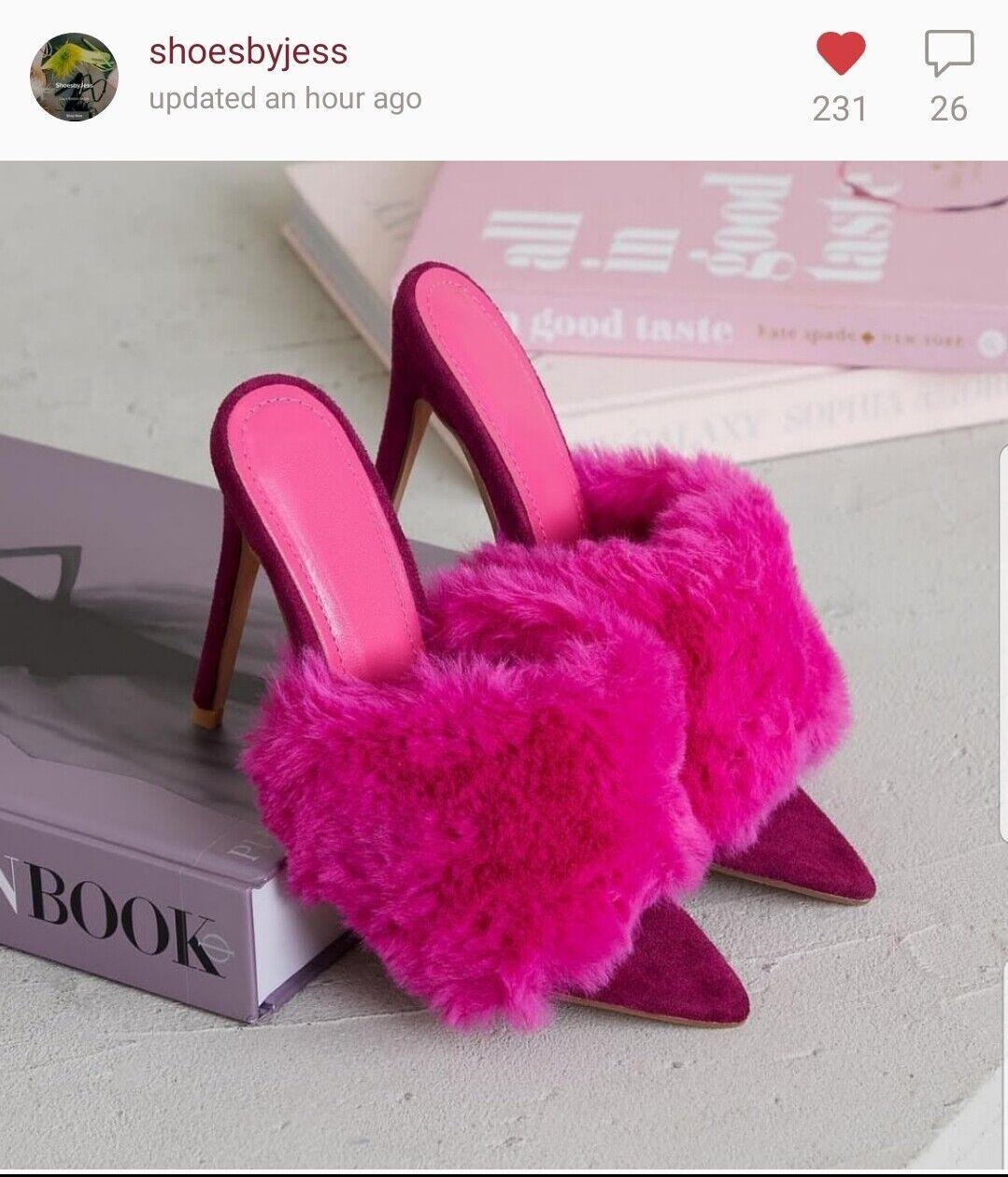 Cape Robbin Savage Fur Magenta Hot Pink, bluesh Pink, Green, Yellow,  Black color