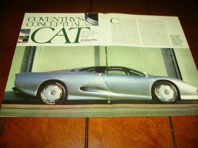 1989 JAGUAR XJ-220 CONCEPT CAR - ORIGINAL ARTICLE   eBay
