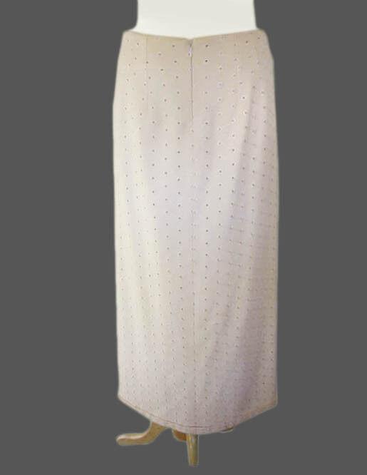 4000 NWT Kiton Woman Cream White Cashm. Skirt e42 US6 8 - (IDKIWOSKRT1)