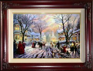 Thomas-Kinkade-A-Victorian-Christmas-Carol-18x27-G-P-Framed-Limited-Canvas