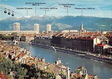 BT9622 Grenoble quais de l isere telepherique cable train         France