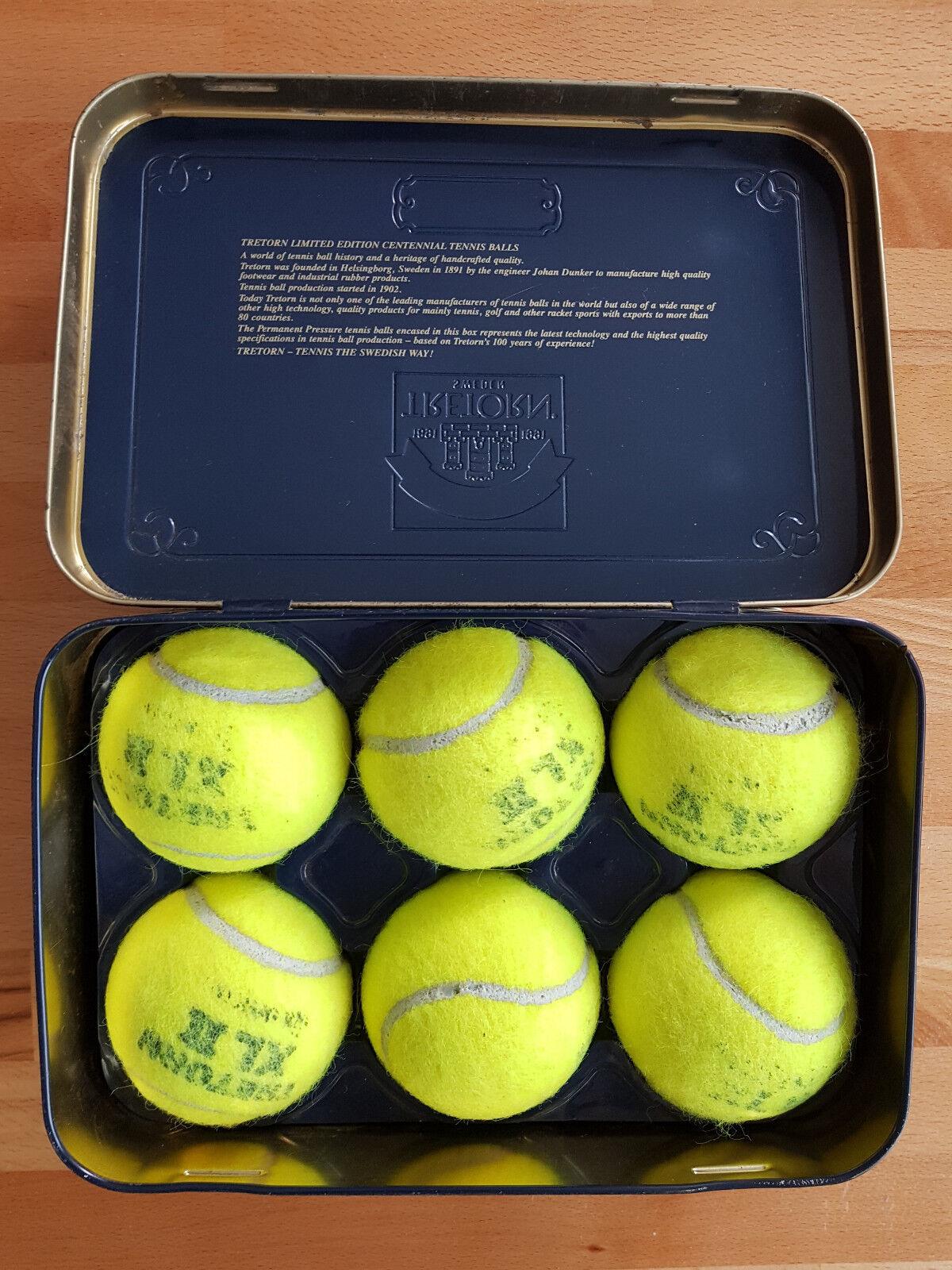 Tretorn Limited Edition Centennial Tennis Balls Sweden 100 Years 1891 - 1991