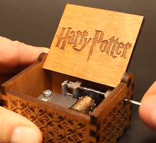 Harry Potter Handcraft Wooden Vintage Music Box Theme Song Engraved Soundtrack