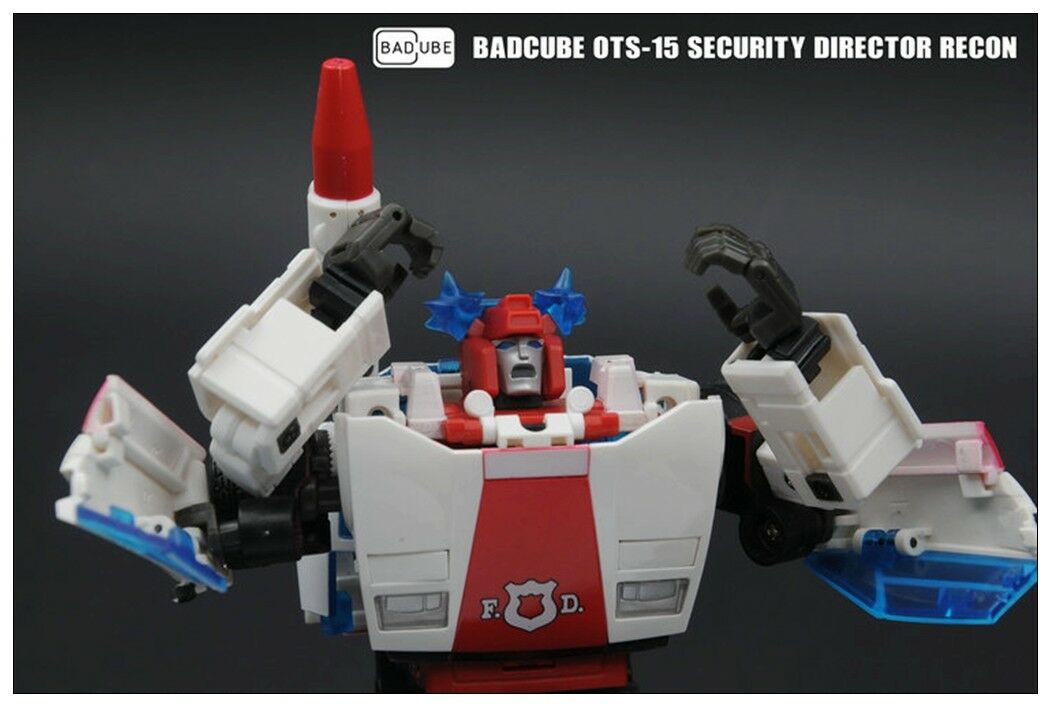 Transformers toy BadCube OTS-15 Security Directo Recon G1 Redalert will arrival