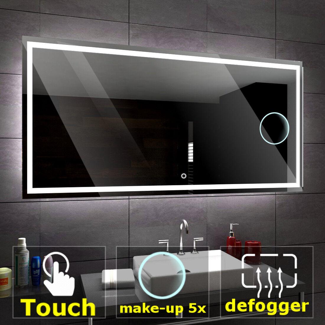ATLANTA éclairé del Miroir salle de bain LED interrupteurs   maquillage