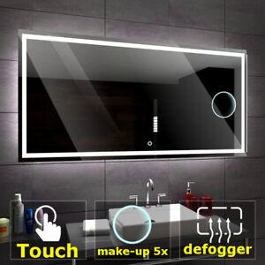 Détails sur ATLANTA éclairé del Miroir salle de bain LED interrupteurs |  maquillage