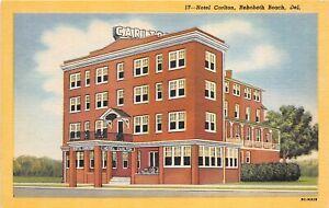 Rehoboth-Beach-Delaware-1940-50s-Postcard-Hotel-Carlton