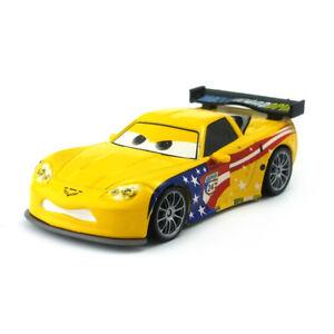 Disney Pixar Car 2 Jeff Gorvette Usa Diecast Toy Model Car 1 55 Kids
