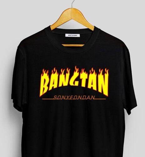 BTS 방탄소년단 Thrasher Inspired T-shirt Kpop ARMY Bangtan Boys//Kpop Merch//Bts shirt