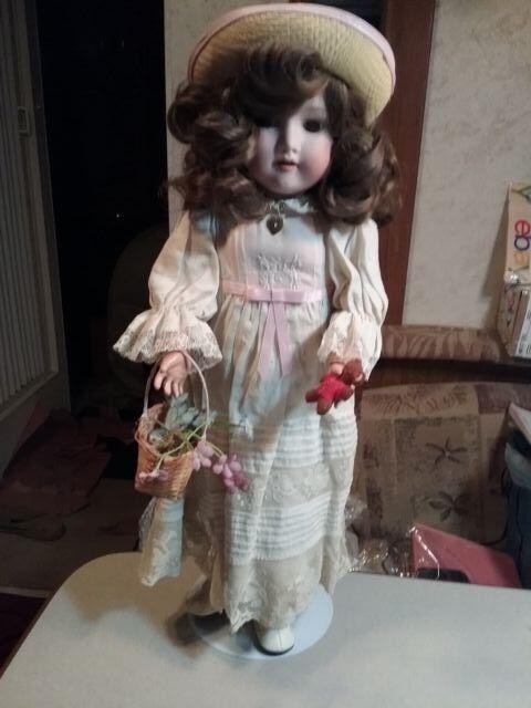 19thc Armand Marseille  2 a.m. recojo Alemania Biscuit muñeca de grado colector